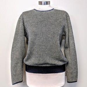 Jones NY Houndstooth Wool Sweater